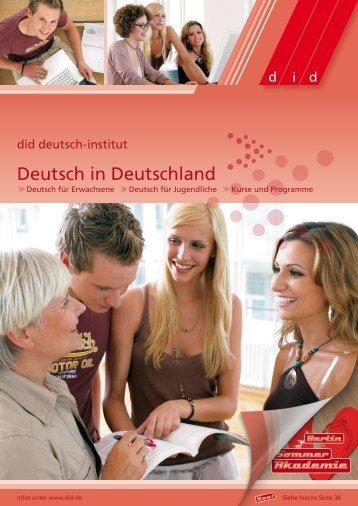 Deutsch in Deutschland - did Deutsch-Institut