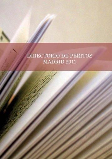 DIRECTORIO DE PERITOS MADRID 2011 - Professional Letters