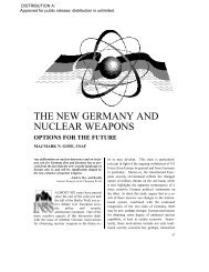 The New Germany and Nuclear Weapons: Options For the Future