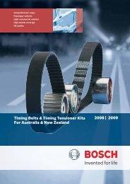 Timing Belt & Kits Catalogue 2008/2009 (pdf 2MB ... - Bosch Australia