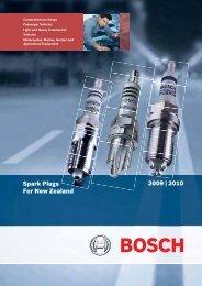 2009-2010 NZ Spark Plug Catalogue - Bosch New Zealand