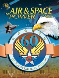 Spring 2007 - Air & Space Power Chronicles - Air Force Link