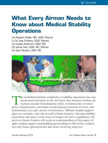 What Every Airman Needs to Know about Medical Stability Operations