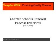 Charter Schools Renewal - The School District of Philadelphia