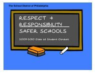 Student Code of Conduct - The School District of Philadelphia
