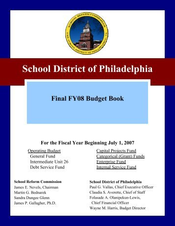 Fiscal Year 2008 Final SDP Budget Book - The School District of ...