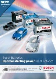 Bosch Battery Brochure - Bosch Australia