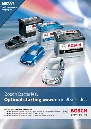 Bosch Battery Brochure - Bosch Australia