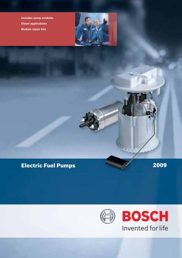 2009 Fuel Pump Catalogue - Bosch New Zealand