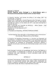 Acordo Especial entre Portugal e a Guiné-Bissau para a Permuta de ...