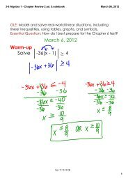 3-6 Algebra 1 - Chapter Review 2 pd. 5.notebook
