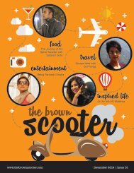 The Brown Scooter - December Edition