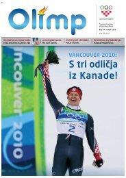 OLIMP 34 - ožujak 2010. - Hrvatski Olimpijski Odbor