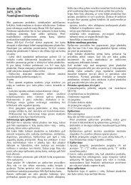 Braun epiliatorius 2075, 2170 Naudojimosi instrukcija - Azon.lt