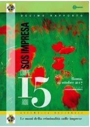 Rapporto Confesercenti 2007 - SOS Impresa - Regione Basilicata