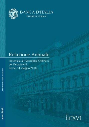 Banca d'Italia - Relazione annuale presentata all ... - Sos Impresa