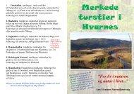 Merkede turstier i Hvarnes - Bygdekvinnelaget