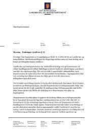 Endringar i jordlova § 12 - brev av 24.1.2013 - Bergen kommune