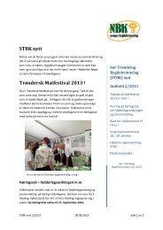 STBK nytt 2/2013 - Bygdekvinnelaget