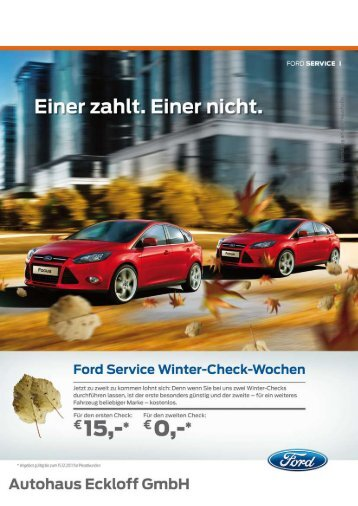 Ford Service Winter-Check-Wochen - Autohaus Eckloff Gmbh