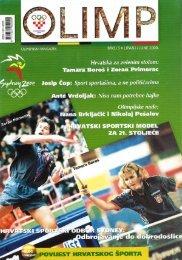 ZA 21... STOLJECE - Hrvatski Olimpijski Odbor