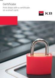 First steps with a certificate (PDF file) - Komerční banka
