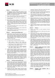 Podmínky pro vydání a používání karty optického ... - Komerční banka