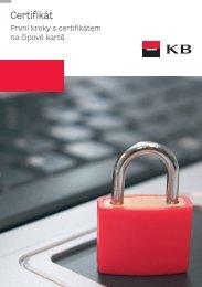 První kroky s certifikátem – čipová karta (PDF ... - Komerční banka