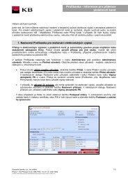 Profibanka - Informace pro příjemce platebních karet - Komerční banka