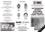 Conference programme (print version) - Jadovno 1941.