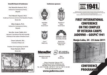 Conference programme (print version) - Jadovno 1941.