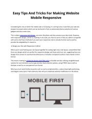 Easy Tips And Tricks For Making Website Mobile Responsive