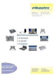 Schachtabdeckung/befahrbar in Aluminium in verzinkt in Edelstahl