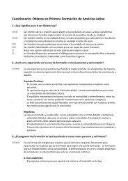Cuestionario: Oblatos en Primera Formación de ... - OMI World