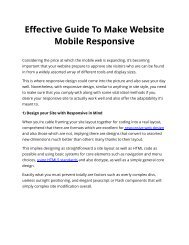 Effective Guide To Make Website Mobile Responsive