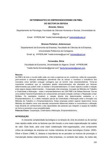 330 DETERMINANTES DO ... - Revista RecreArte