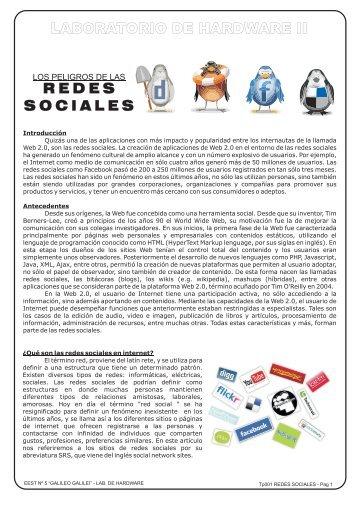 tp001 redes sociales - Laboratorio de Hardware II