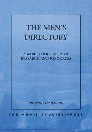 THE MEN'S DIRECTORY - The Men's Studies Press