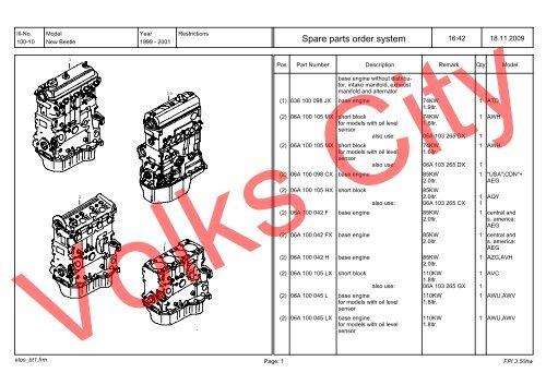 Volkswagen Beetle Parts Diagram