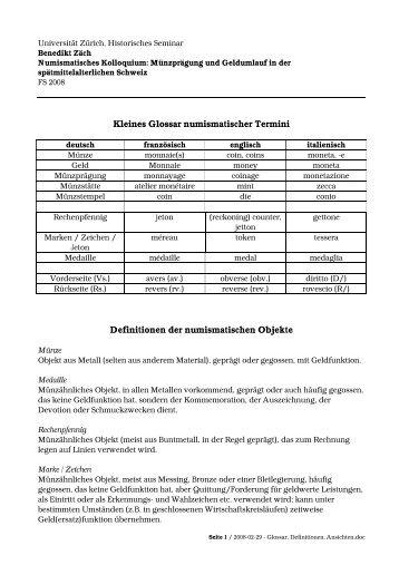 Glossar, Definitionen, Ansichten (PDF)
