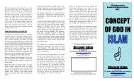 Concept Of God In Islam (a brochure)