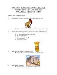 national junior classical league greek life and literature columbia ...