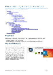 Overview - CNET Content Solutions