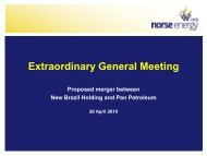 Presentation to Extraordinary General Meeting 26 ... - Panoro Energy