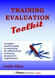 Training Evaluation Toolkit Introduction - Business Performance