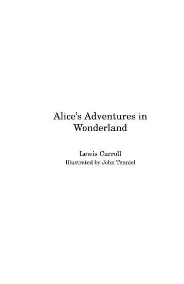 Alice's Adventures in Wonderland - Sandroid.org