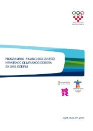 Programsko i financijsko izvješće HOO-a za 2010. - Hrvatski ...