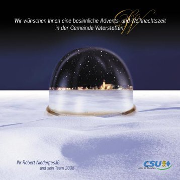 Wir wünschen Ihnen eine besinnliche Advents- und Weihnachtszeit ...