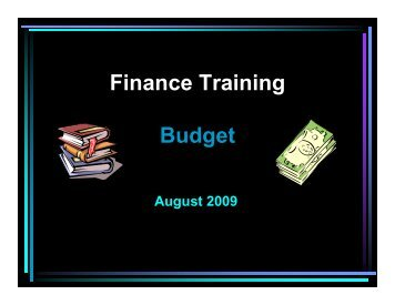 Finance Training Budget - Conroe Independent School District