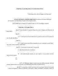 Altera dispositivos da Lei Orgânica do Município - Prefeitura ...